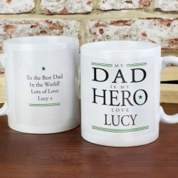 My Dad is My Hero Mug - Personalised Mug