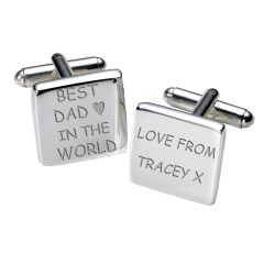 Personalised Best Dad in the World Cufflinks