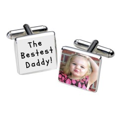 The Bestest Daddy! Photo Cufflinks