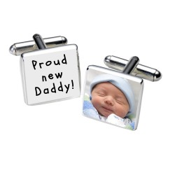 Proud new Daddy! Photo Cufflinks