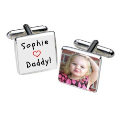 Loves Daddy! Photo Cufflinks