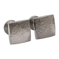 Ti2 Titanium - Square Textured Cufflinks