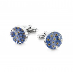 Forget Me Not Flower Cufflinks