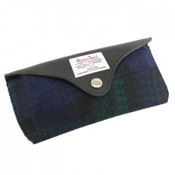 Glasses Case - Black Watch Harris Tweed - By The British Bag Company
