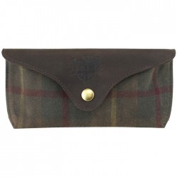 Tartan Glasses Case Green Millerain