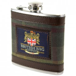 Green Milerain Tartan Hip Flask