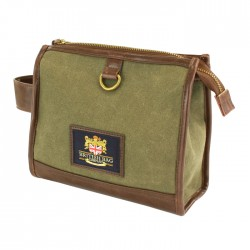 Waxed Canvas Washbag - British Bag Company