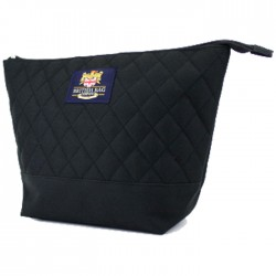 Black Quilted Washbag - British Bag Company