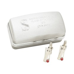 Cricket Cufflinks And Personalised Engraved Box