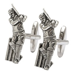 Cricket Batsman Cufflinks - Cricketer Cufflinks