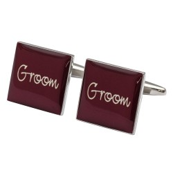 Groom Cufflinks Burgundy