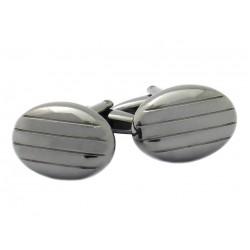 Lytham Gunmetal Oval Cufflinks