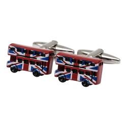 Union Jack London Bus Cufflinks