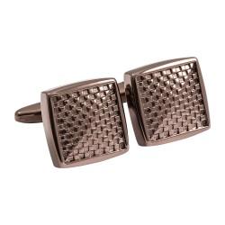Jos Von Arx - Designer Metallic Brown Chequer Squares