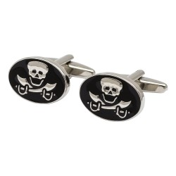 Skull and Crossed Swords Cufflinks