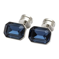 Blue Skyglass Crystal Cufflinks