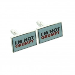 I'm Not Grumpy Cufflinks