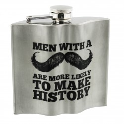 Make History Moustache Hip Flask