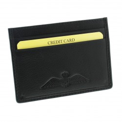 R.A.F. Black Leather Credit Card Slip