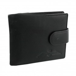 R.A.F. Black Leather Multi Fold Wallet