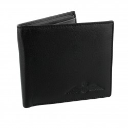 R.A.F. Black Leather Single Fold Wallet