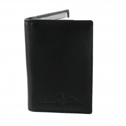 R.A.F. Black Leather Credit Card Wallet