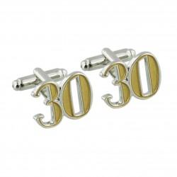 Number 30 - 30th Birthday Cufflinks