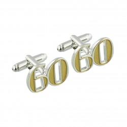 Number 60 - 60th Birthday Cufflinks