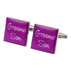 Square Hot Pink - Grooms Son Cufflinks