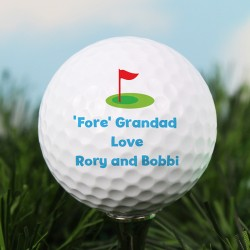Personalised Message  Flag Golf Ball