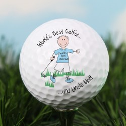 Personalised Message 'Worlds Best Golfer' Golf Ball