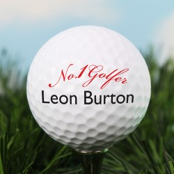 Personalised Message No1 Golfer Golf Ball