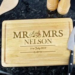 Mr & Mrs Large Chopping Board
