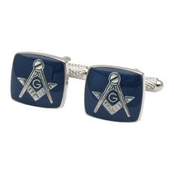Blue Masonic 'G' Cufflinks