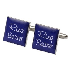 Square Purple - Ring Bearer Cufflinks