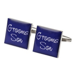 Square Purple - Son of the Groom Cufflinks