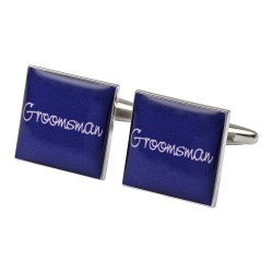 Square Purple - Groomsman Cufflinks