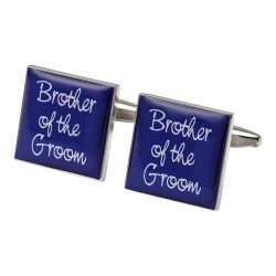 Square Purple- Brother of the Groom Cufflinks