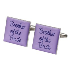 Square Lilac - Brother of the Bride Cufflinks