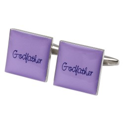 Square Lilac - Godfather Cufflinks