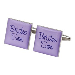 Square Lilac - Brides Son Cufflinks