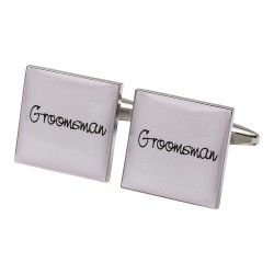 Square Pale Pink - Groomsman Cufflinks