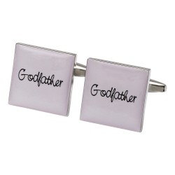 Square Pale Pink - Godfather Cufflinks