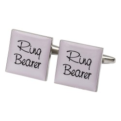 Square Pale Pink - Ring Bearer Cufflinks