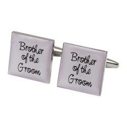 Square Pale Pink - Brother of the Groom Cufflinks