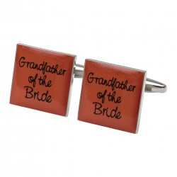 Square Orange- Grandfather of the Bride Cufflinks