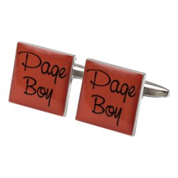 Square Orange- Page Boy Cufflinks