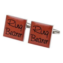 Square Orange - Ring Bearer Cufflinks