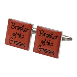 Square Orange- Brother of the Groom Cufflinks