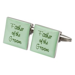 Square Green- Father of the Groom Cufflinks